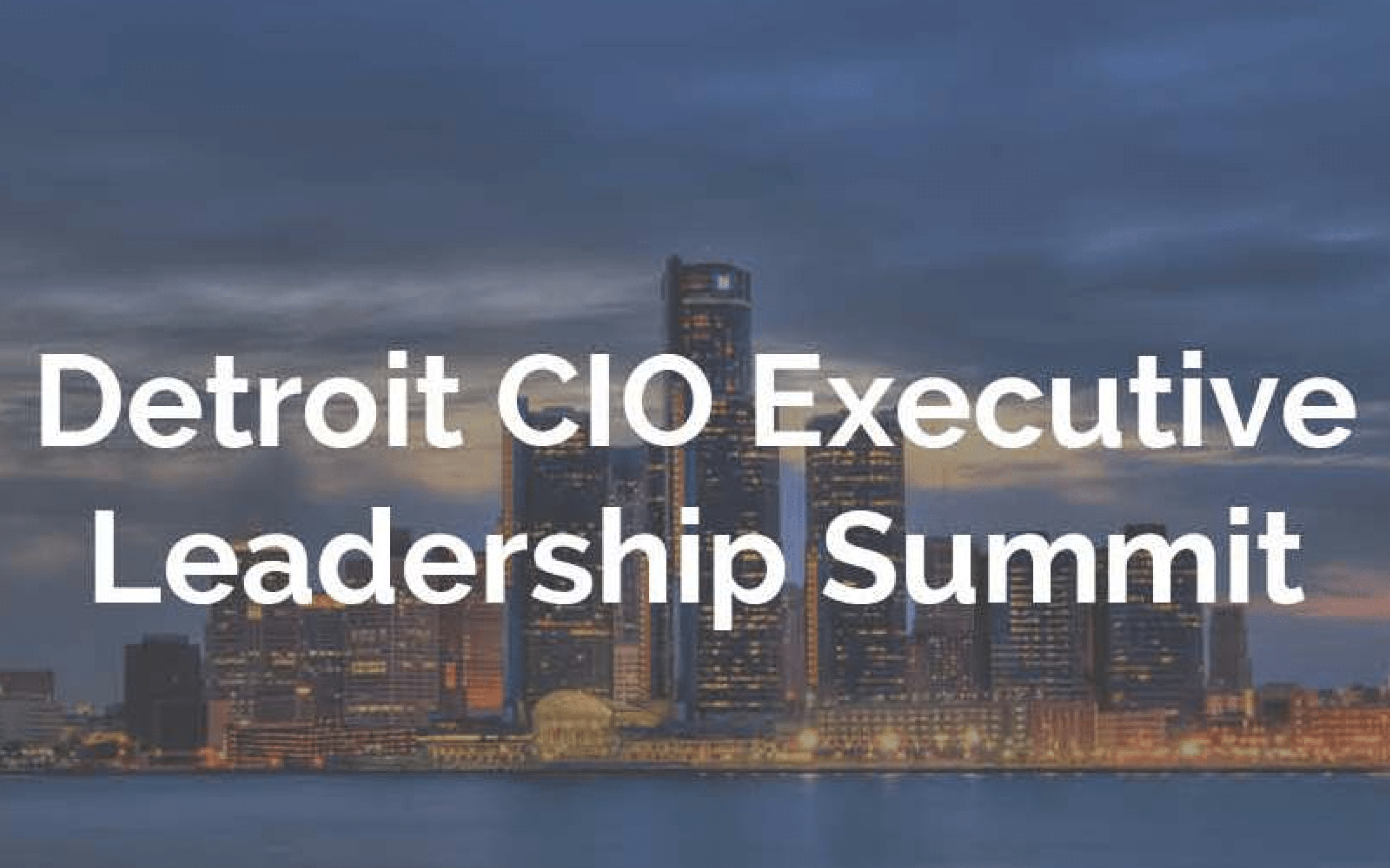 Ecosystems To Participate In Detroit CIO Executive Leadership Summit